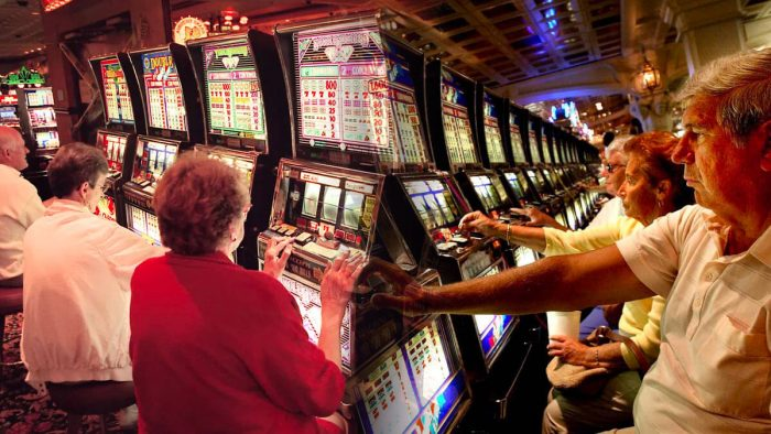People using slot machines